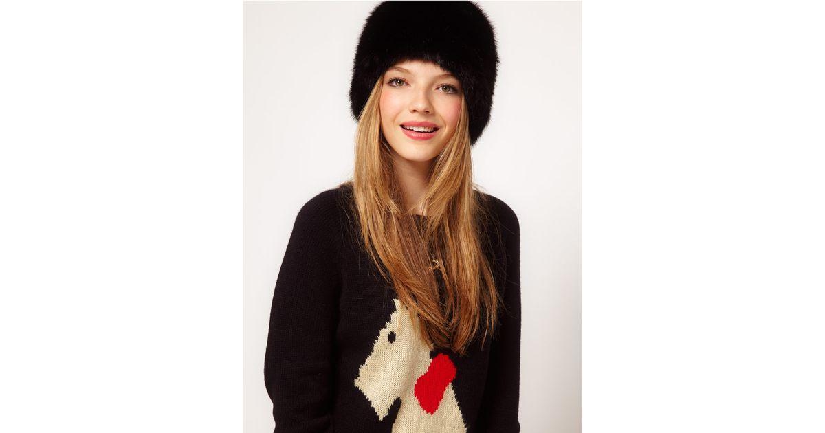 Lyst - ASOS Faux Fur Cossack Hat in Black 47ba56aef6d