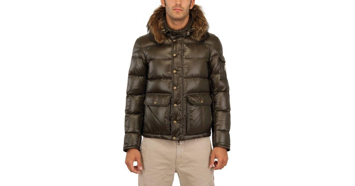 00c28fb26 Moncler Green Hubert Ultra Light Shiny Nylon Jacket for men