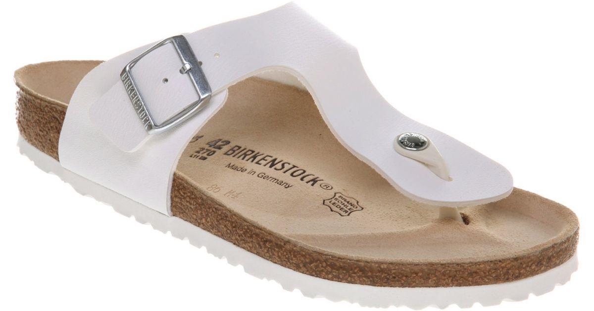 8058bbda917a Birkenstock Ramses Thong Sandal White Rubber in White for Men - Lyst