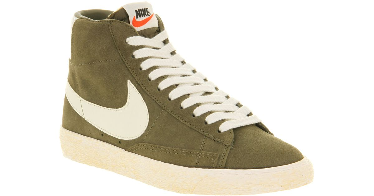 Nike Blazer Hi Suede Vntage Medium Olive Sail in Green for Men - Lyst