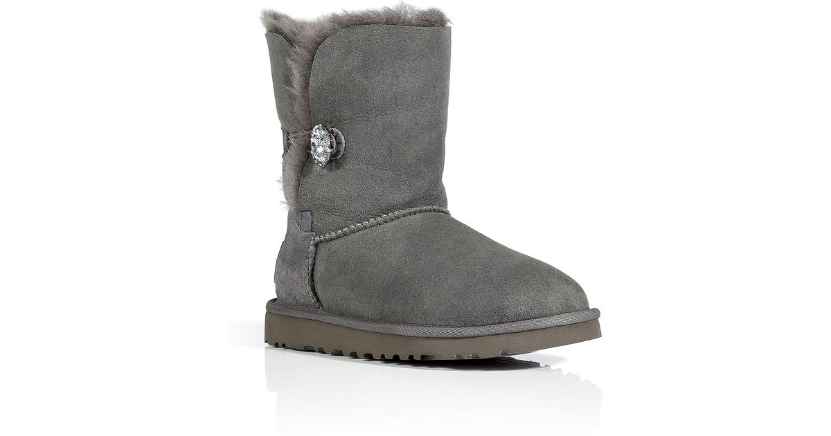 a2d05656380 UGG Black Suede Bailey Bling Boots With Swarovski Crystal - Grey