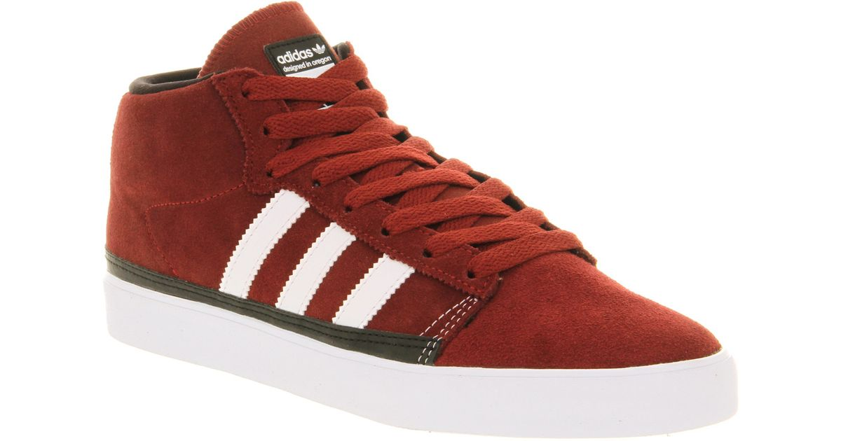 size 40 1b87e 37438 Lyst - adidas Rayado Mid Mars Red Run Wht Blk in Red for Men