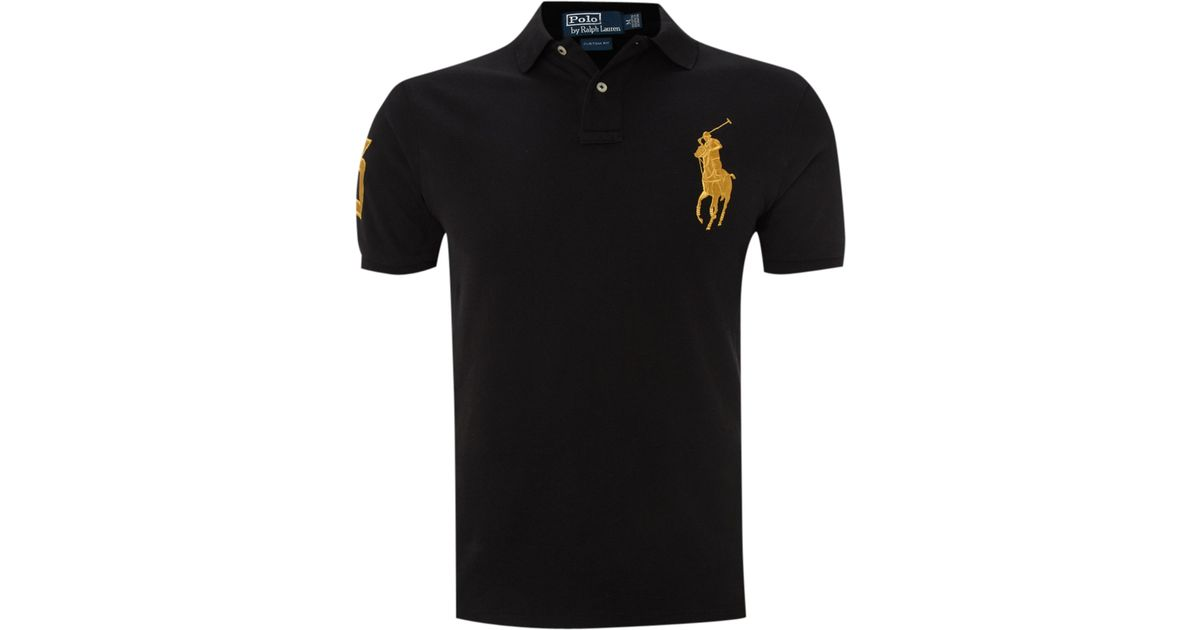 Polo Ralph Lauren Custom Fitted Gold Big Pony Polo Shirt