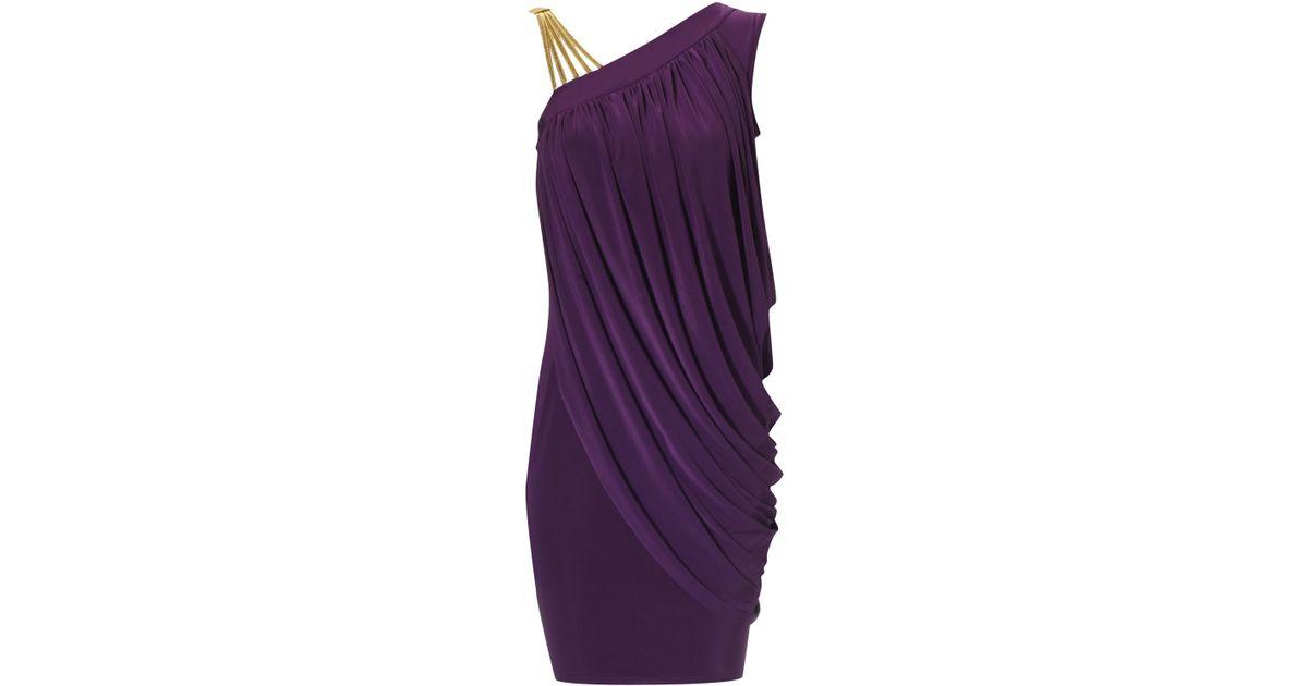 Jane norman purple maxi dress