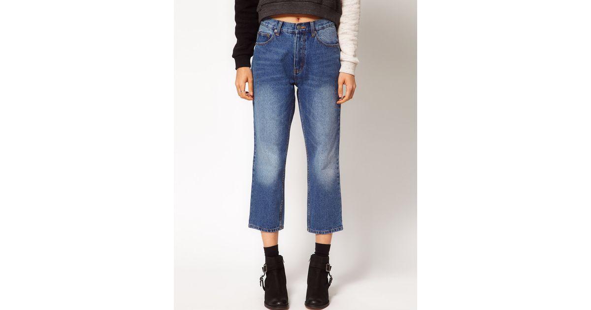 35925d9069a29 Cheap Monday Blue 90s Cropped Jeans