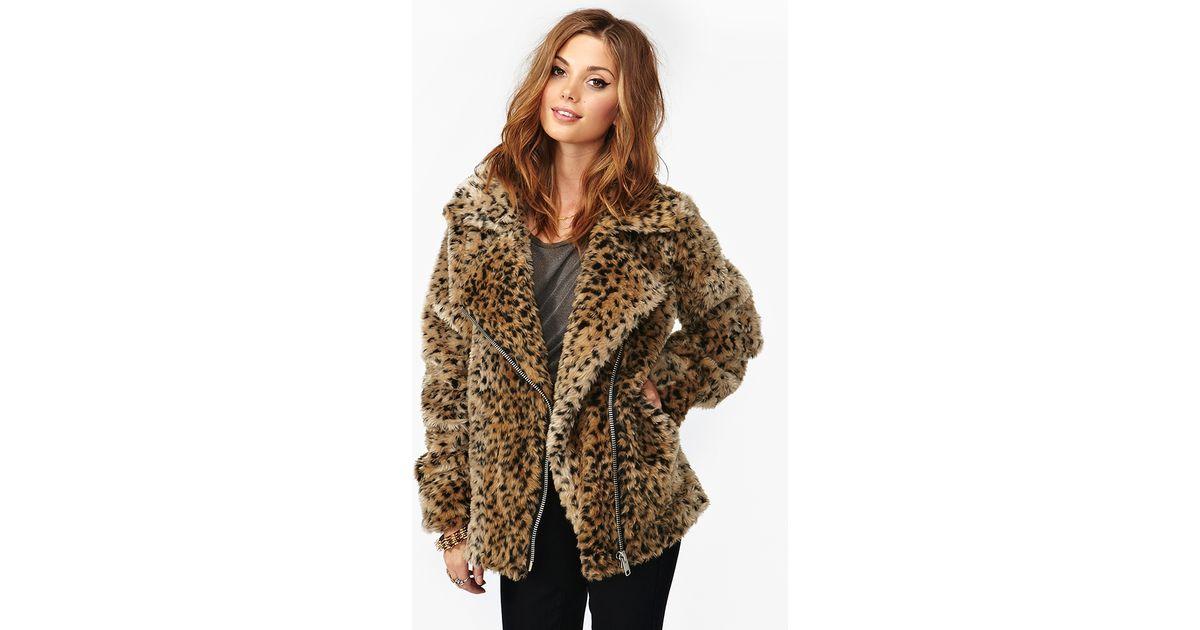 4336fec55d45 Nasty Gal Donna Leopard Coat - Lyst