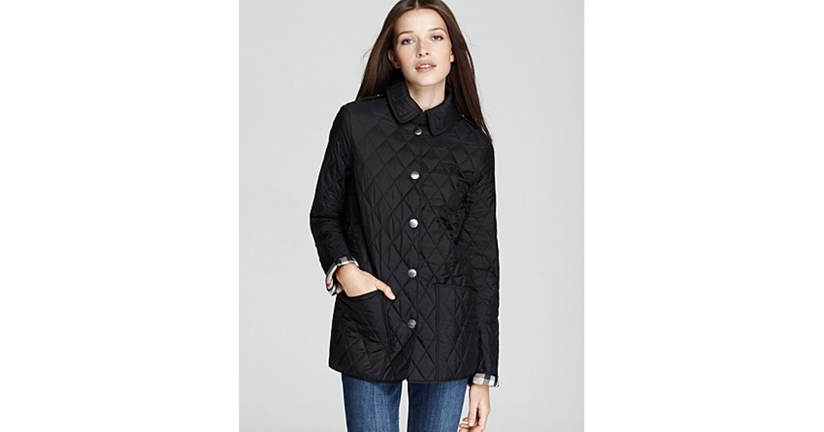Lyst - Burberry Pirmont Quilted Jacket in Black : burberry pirmont quilted jacket - Adamdwight.com