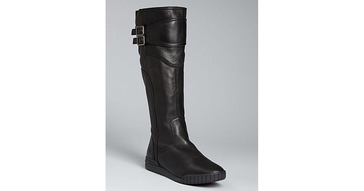 DKNY Flat Tall Boots Kloister in Black