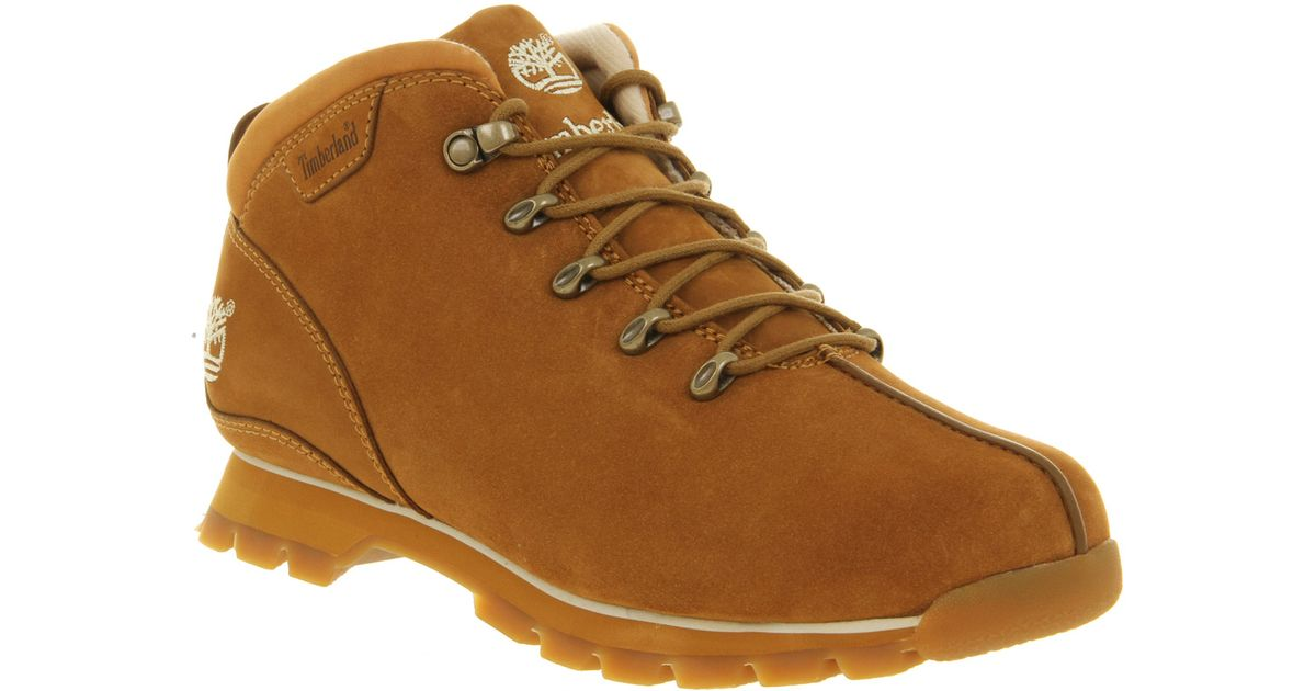 amazing selection the sale of shoes discount sale Timberland Brown Splitrock Hiker Wheat Nubuck for men