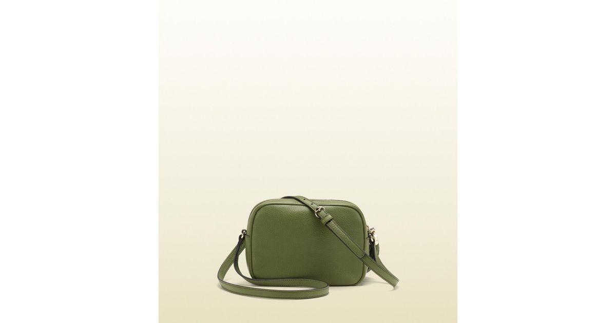 a8dba640ec7 Lyst - Gucci Soho Green Leather Disco Bag in Green