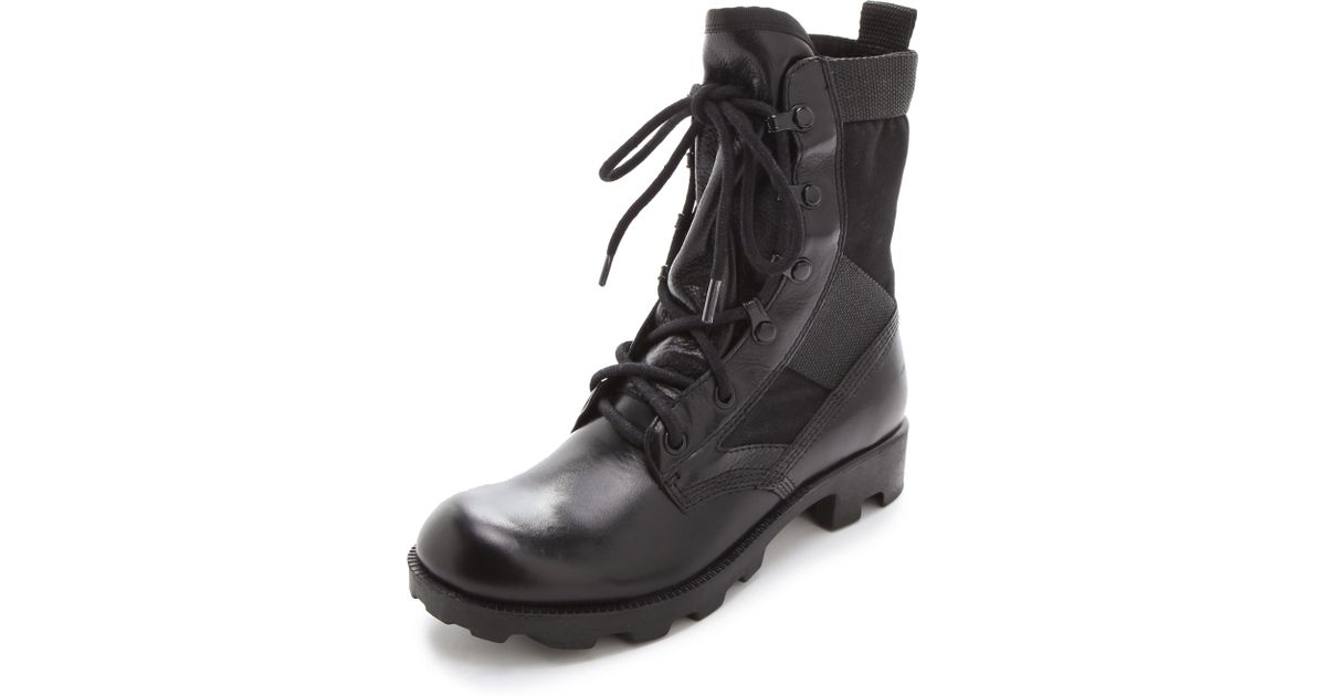 Theyskens' Theory Embossed Combat Boots discount footlocker with credit card free shipping with paypal low price outlet exclusive buy cheap popular oUscXkyk5