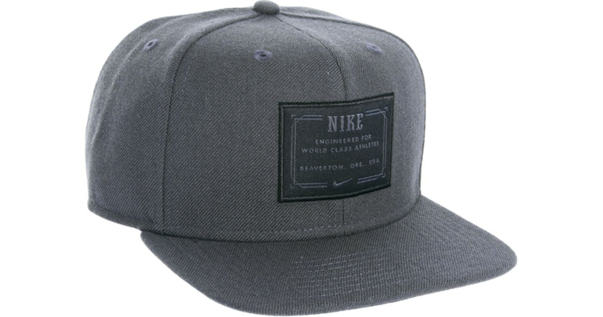 48e4d119 ... where to buy lyst nike snapback cap in gray for men c6e6f 5ae4e