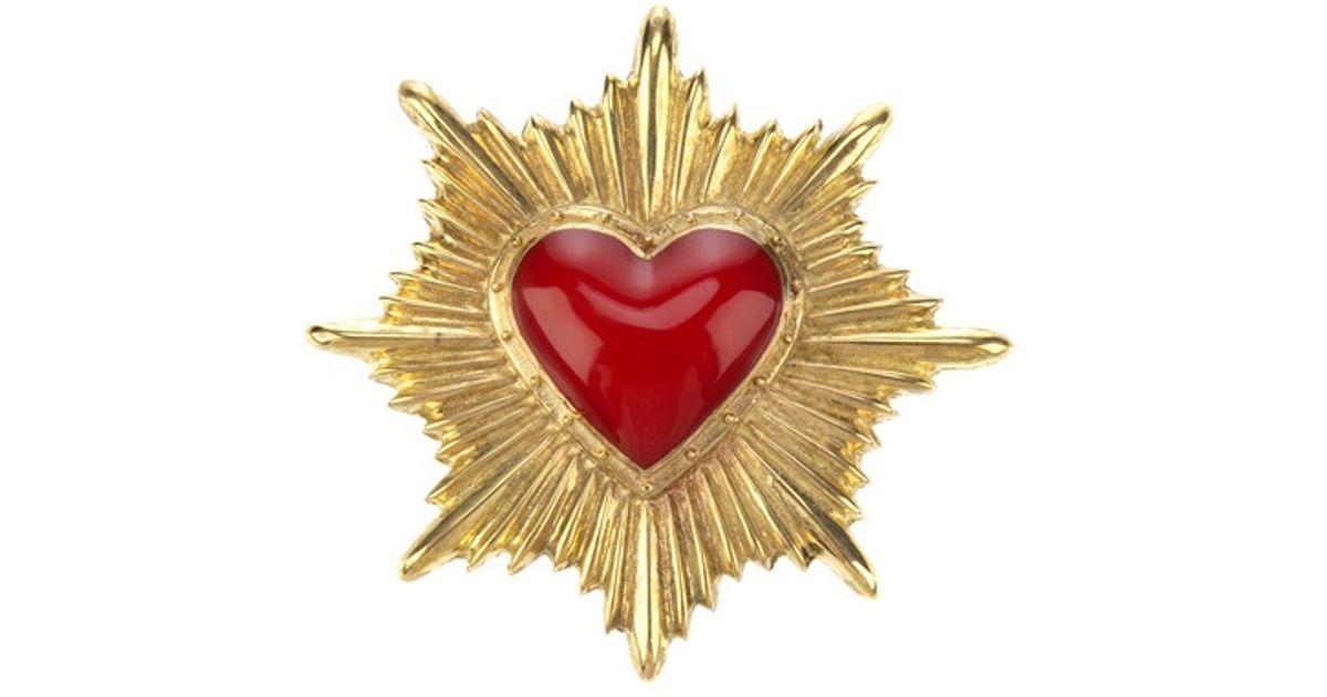 525637dd5 KTZ Heart Brooch in Red for Men - Lyst
