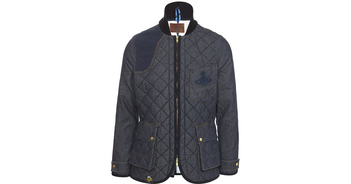 439870cc9 Vivienne Westwood Anglomania Blue Washed Quilted Denim Hunting Jacket for  men