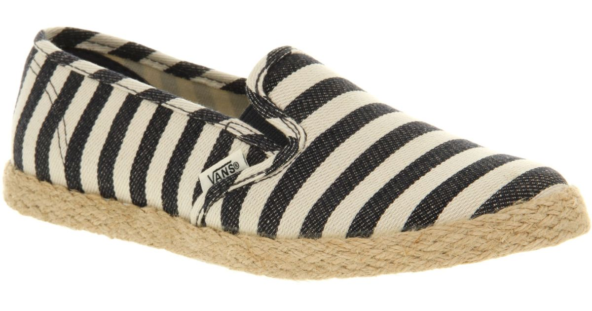 vans espadrillas slip on