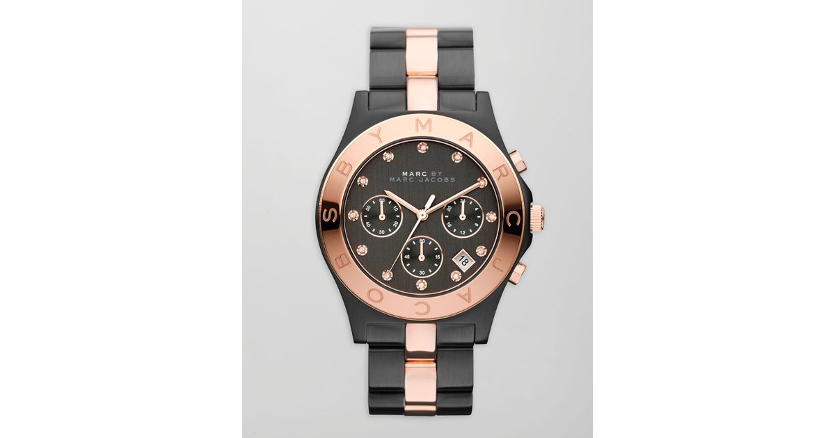 733edae7cc8 Marc Jacobs Black And Rose Gold Watch - HD Image Flower and Rose ...