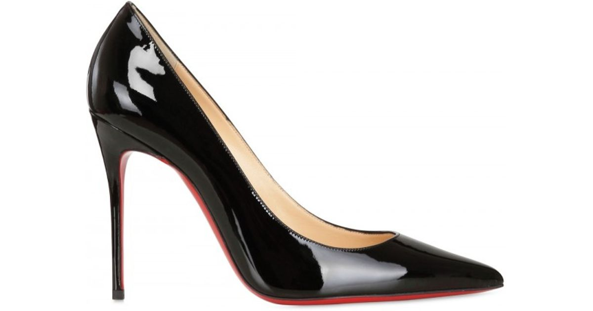huge discount new high united kingdom Christian Louboutin Black 100mm Decollete 554 Patent Pointy Pumps