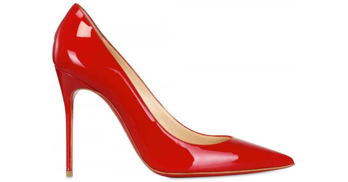 promo code 0be1f f7972 Christian Louboutin Red 100mm Decollete 554 Patent Pointy Pumps