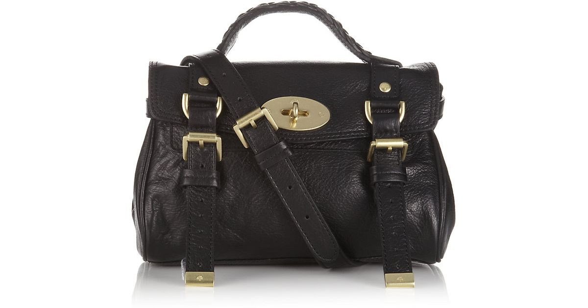ecd924295c Mulberry Mini Alexa Crossbody Bag in Black - Lyst