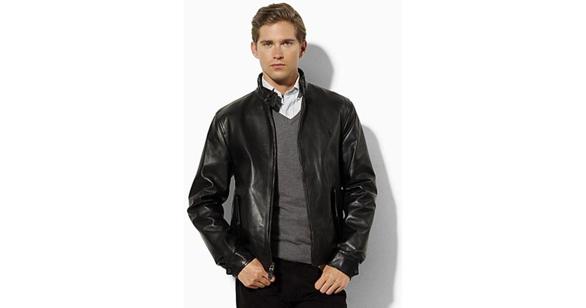 9c2228449 Ralph Lauren Polo Leather Barracuda Jacket in Black for Men - Lyst