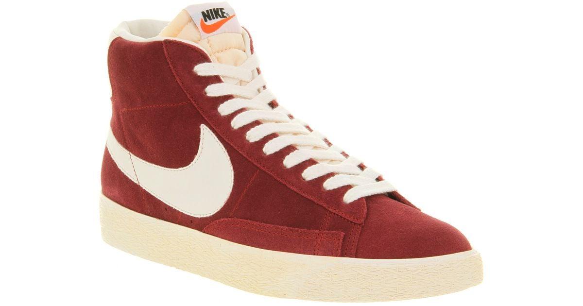 sale uk new arrival popular stores Nike Blazer Hi Suede Vintage Team Red for men