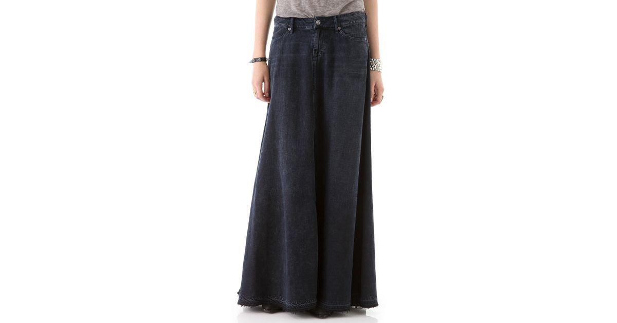a4658f91bb Citizens of Humanity Anja Maxi Skirt in Black - Lyst