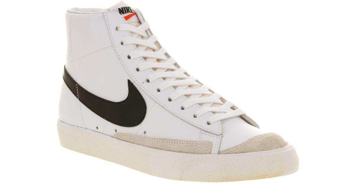 low priced 8a576 4c07f Nike Blazer Mid 77 White Black Team Orange for men