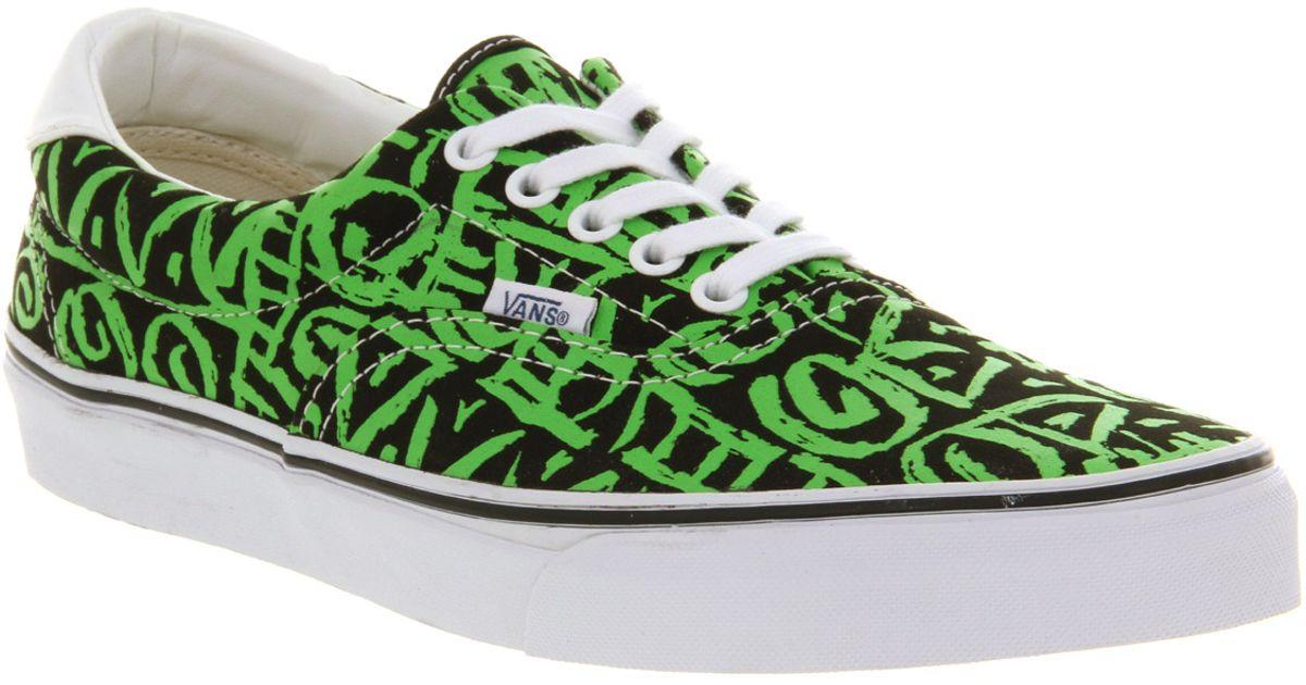 Vans Era 59 Black Green Van Doren
