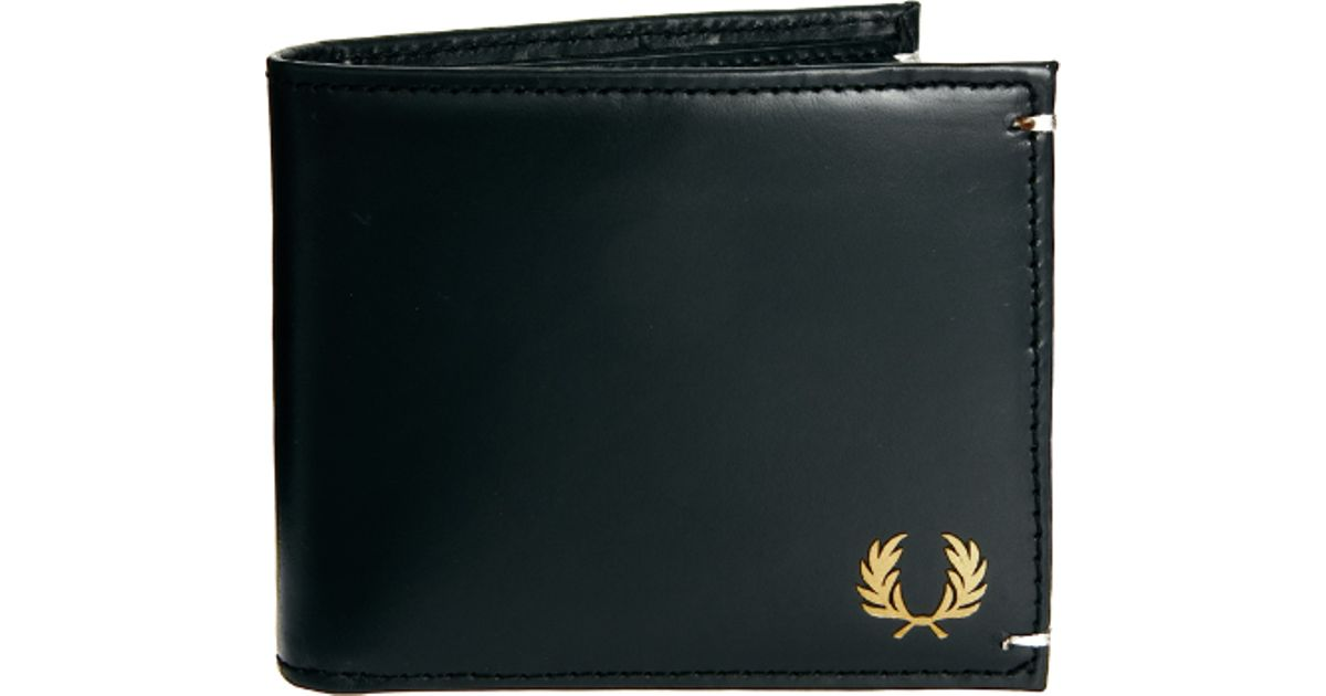 Fred Perry Leather Wallet In Black For Men Lyst