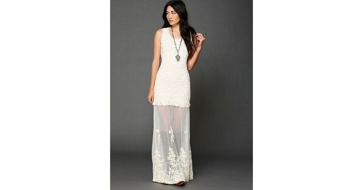 Free people Stella Maxi Dress in White - Lyst