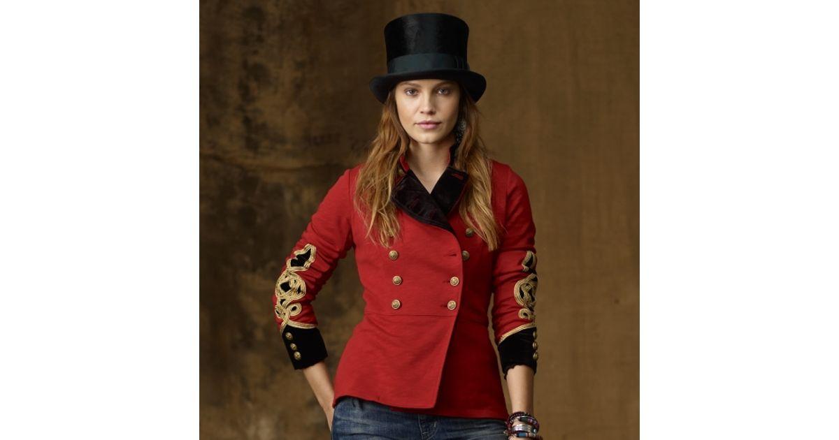 klassischer Chic neue Season günstig kaufen Ralph Lauren Red Bohemian Military Jacket