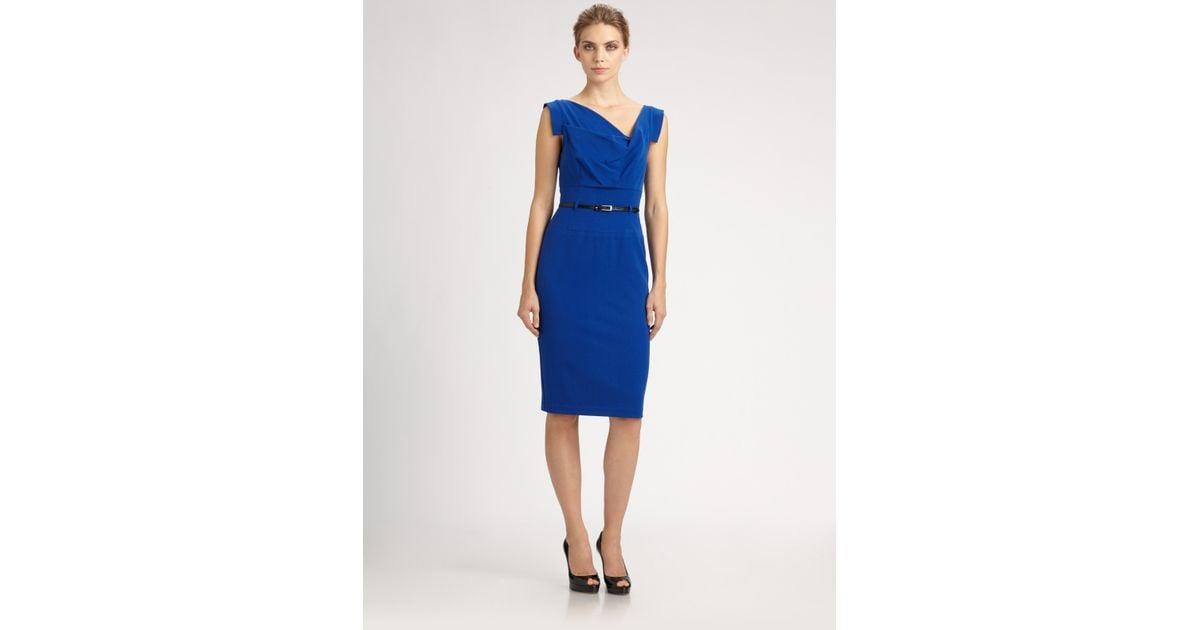 Lyst - Black Halo Jackie O Dress in Blue