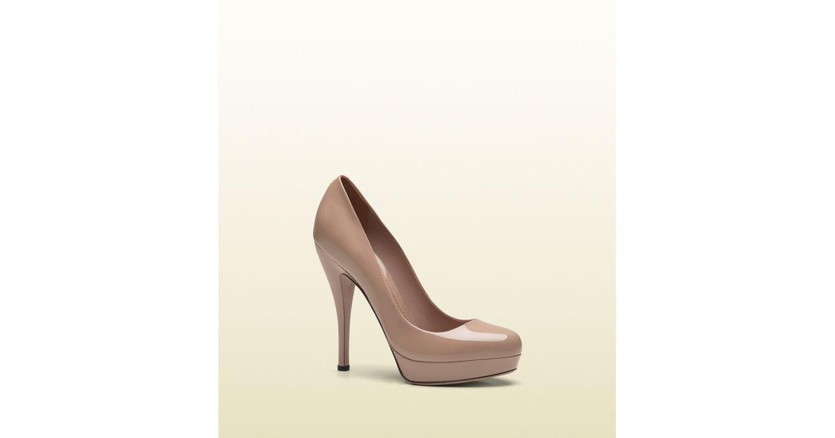 37e579954d1e Lyst - Gucci Lisbeth Light Pink Patent Leather Platform Pump in Pink