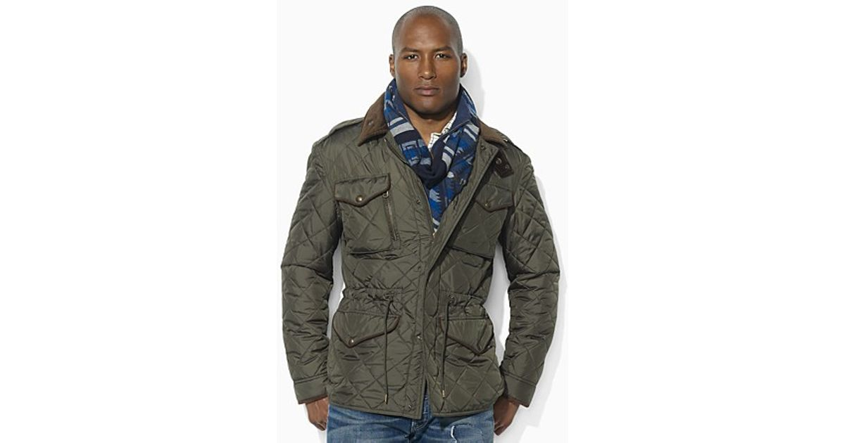 Lyst Ralph Lauren Polo Diamond Quilted Combat Jacket In