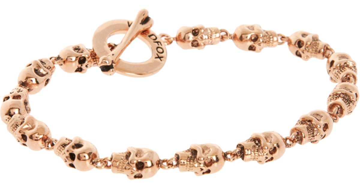 Lyst Wildfox Skull Bracelet in Metallic