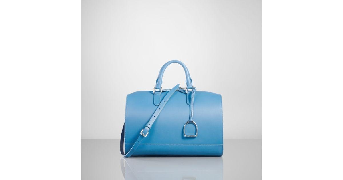 Lyst - Ralph Lauren Vachetta Stirrup Boston Bag in Blue a6c37dd2e2d93