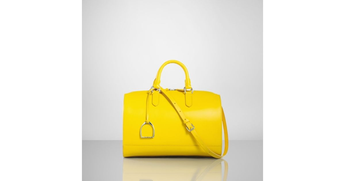 ... discount code for lyst ralph lauren vachetta stirrup boston bag in  yellow 2bb2d 6067c 14aa9b788a004