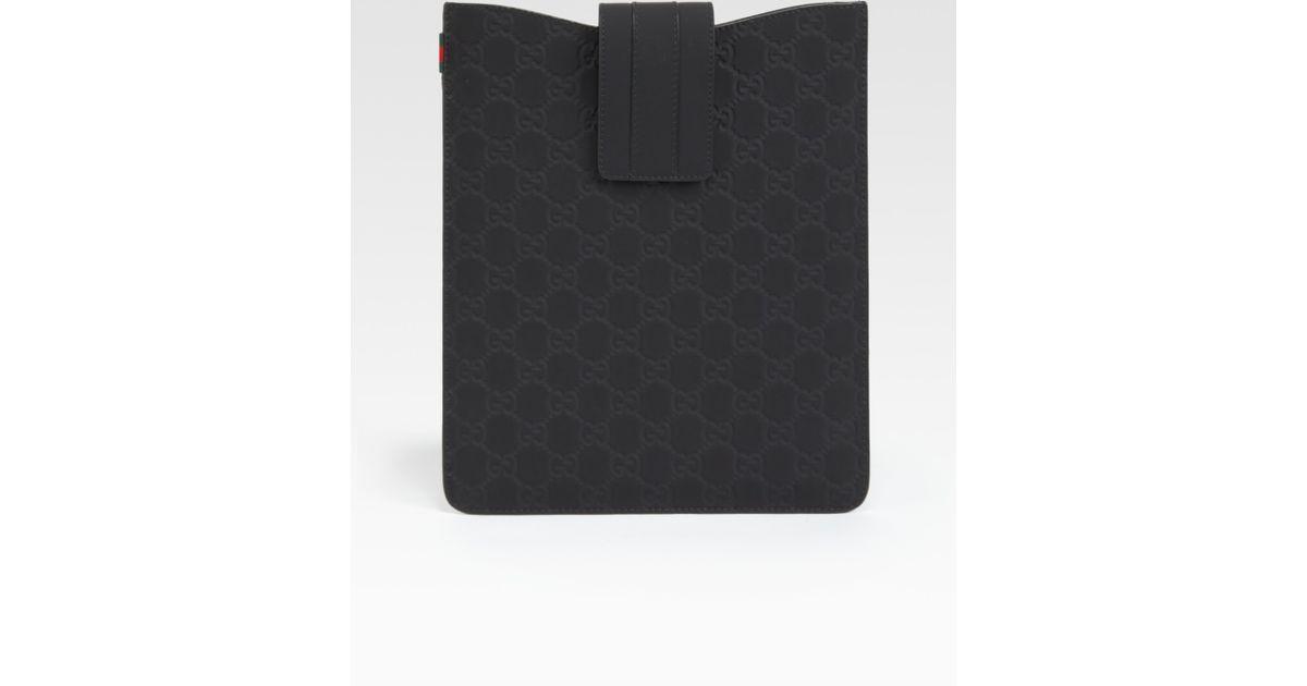 936883fc9de Lyst - Gucci Microguccissima Ipad Case in Black for Men