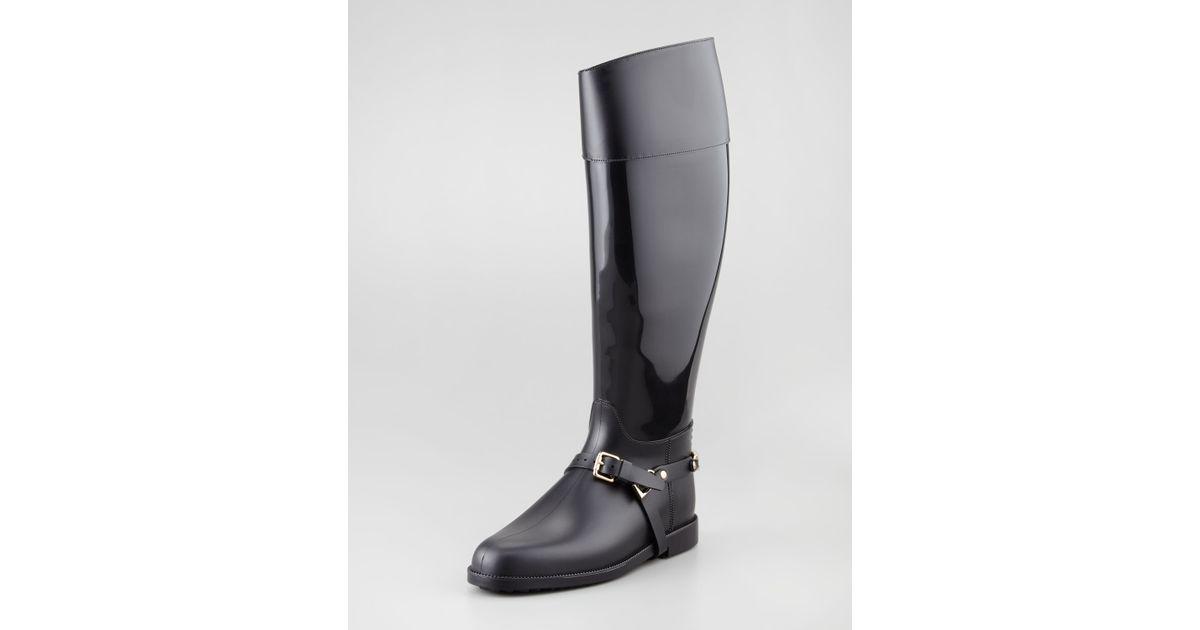 c8f4a4978b3 Jimmy Choo Cheshire Stirrupstrap Rain Boot in Black - Lyst