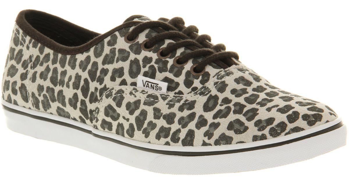Lyst - Vans Authentic Lo Pro Leopard Suede Grey 1c7c161cfe76