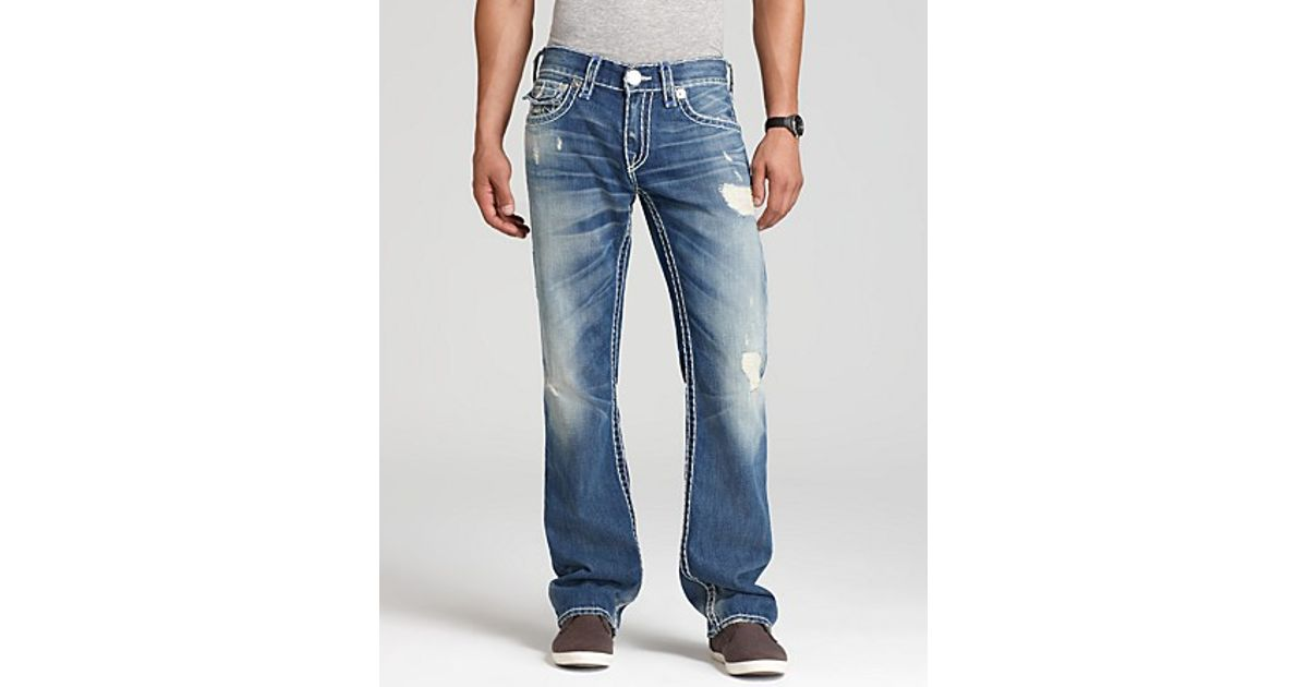 36f8d161 True Religion Jeans Ricky Super T Straight Fit in Old Country in Blue for  Men - Lyst
