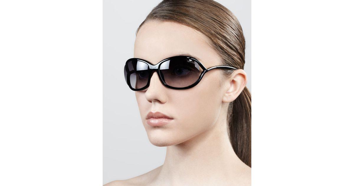 727a31b6ba Lyst - Tom Ford Jennifer Opentemple Sunglasses Blackgunmetal in Black
