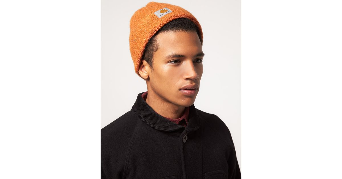 576a0a6bad494 Carhartt Beanie in Orange for Men - Lyst