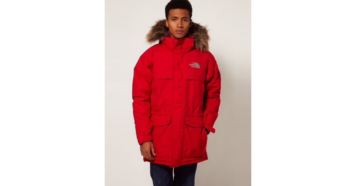 fb167bade The North Face Red Mcmurdo Parka for men