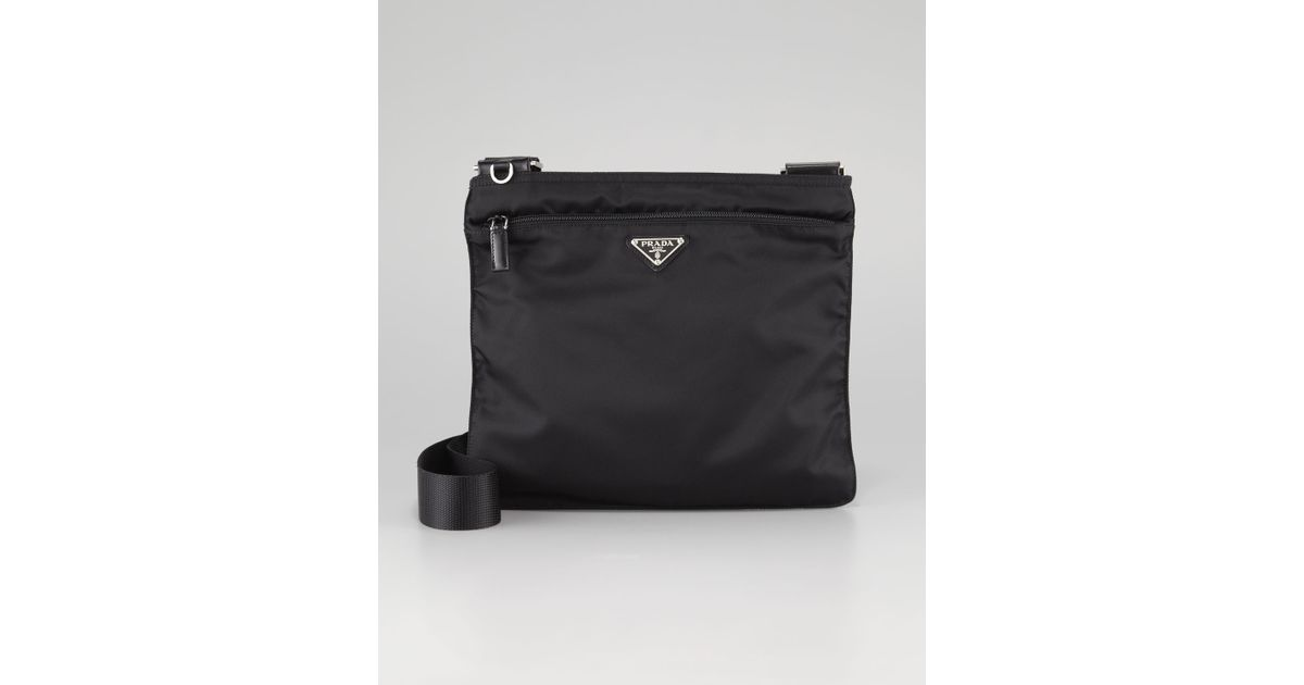 prada vela large messenger bag