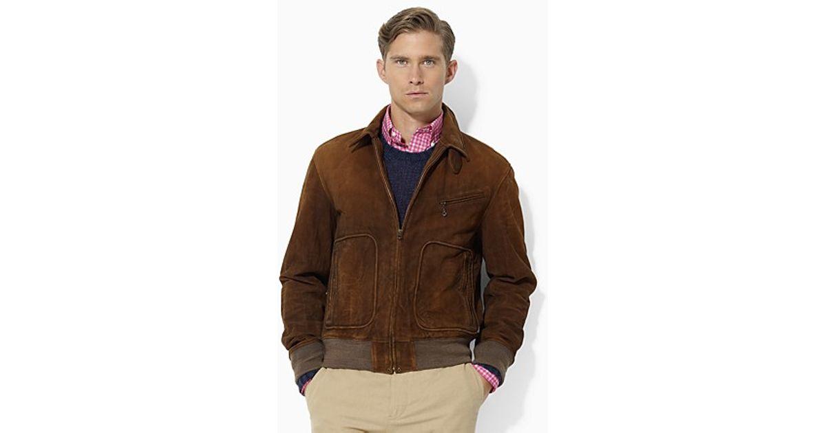 be1c734649298 Lyst - Ralph Lauren Polo Wilstead Suede Newsboy Jacket in Brown for Men