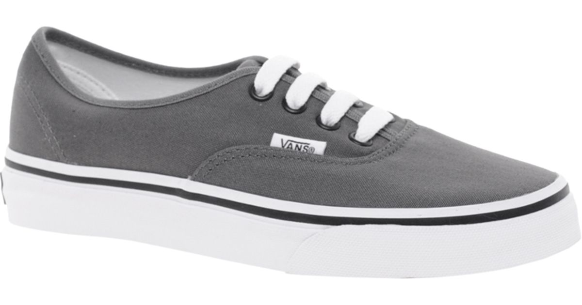 84efe29708 Lyst - Vans Authentic Classic Grey Lace Up Trainers in Gray