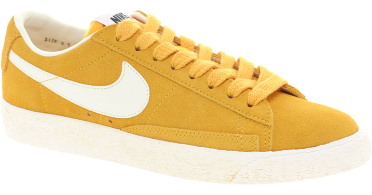 nike blazer low yellow