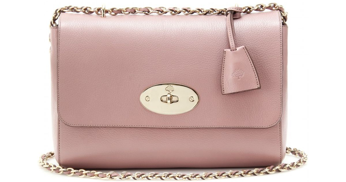 Lyst - Mulberry Medium Lily Glossy Leather Shoulder Bag in Pink 7ba2b5e8a3
