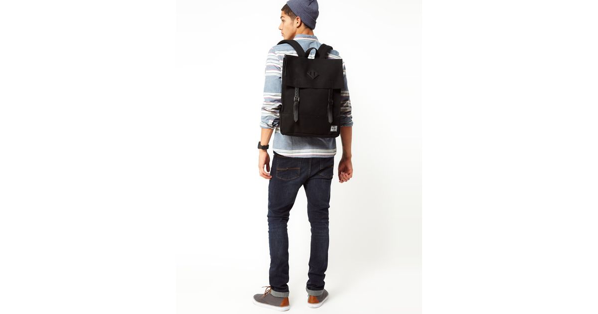 6806aea5a68 Lyst - Herschel Supply Co. Survey Backpack in Canvas in Black for Men